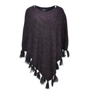 0d646857bd444 Style   Co Womens Plus Size Fringe Poncho Sweater